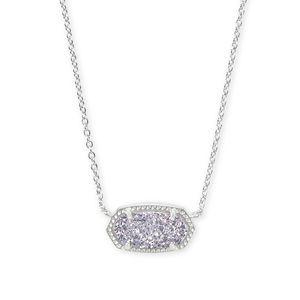 Kendra Scott Elisa Silver Pendant Necklace Steel